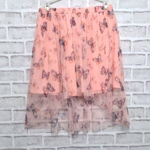 3/$20 Justice 14/16 Butterfly Tulle Hi/Lo Skirt
